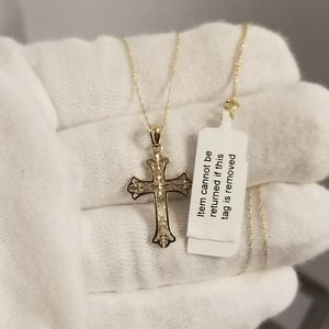 Jewelry - ❤ Solid real 10K Cross Filigree Necklace GORGEOUS❤